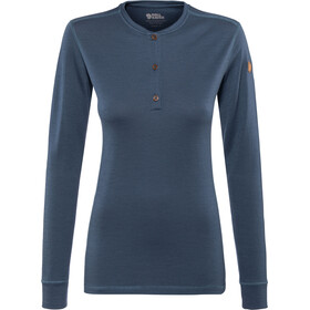 Fjällräven Lappland Merino T-shirt manches longues à col tunisien Femme, storm